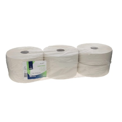 213350: Maxi Jumbo Toiletpapier - recycled tissue - 2-laags - 350 m - WIT - 6 rollen